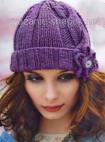вязание шапок спицами для