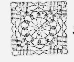 Длинная блуза крючком квадратными мотивами (1) (289x243, 65Kb)