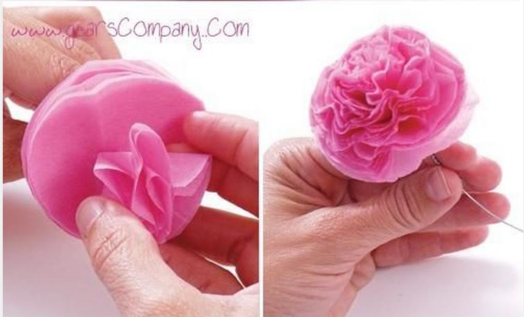 Как сделать шары из гофрированной бумаги своими руками фото