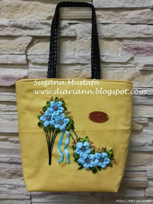 Туфелька на сумочке. Красивые идеи сумок с вышивкой лентами (6) (525x700, 302Kb)