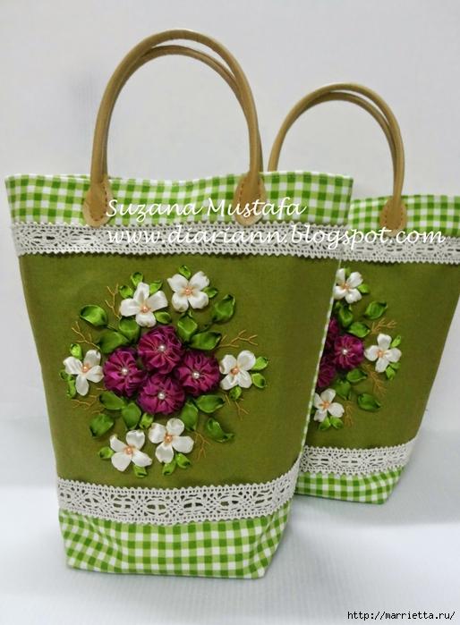 Туфелька на сумочке. Красивые идеи сумок с вышивкой лентами (7) (514x700, 256Kb)