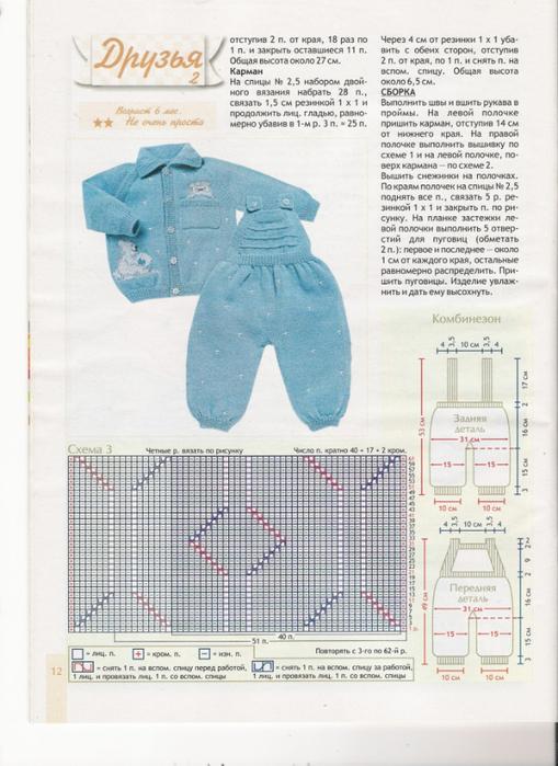 Вязание спицами для девочек новорожденных схемы 56