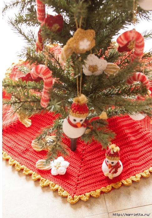 Новогоднее вязание крючком. Юбочка и подвески для елки (1) (487x700, 345Kb)