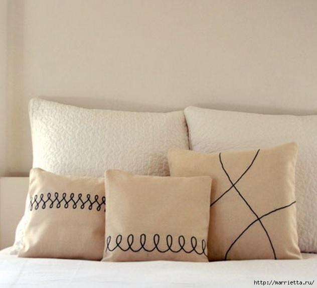 Льняные подушки с простой вышивкой (1) (632x573, 132Kb)