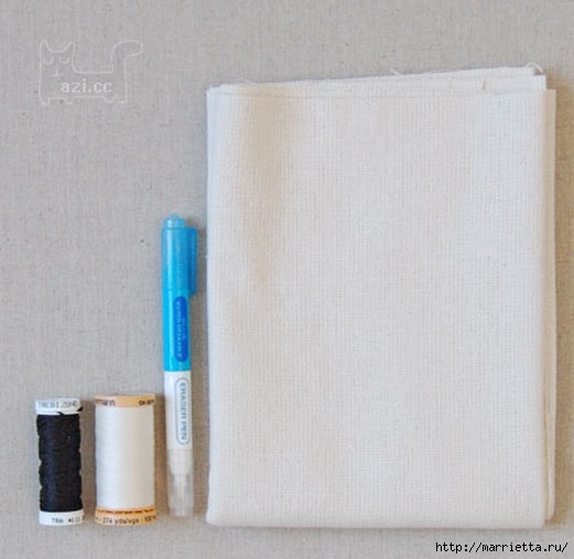Льняные подушки с простой вышивкой (3) (521x508, 115Kb)