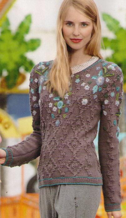 Пуловер С Вышивкой