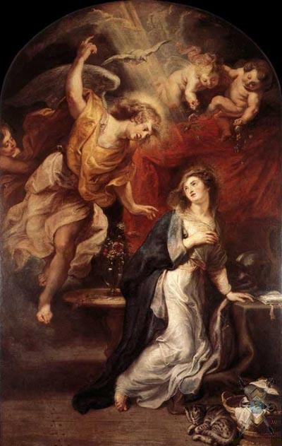 """""""Благовещение""""  Питер Пауль Рубенс, 1628 г."""