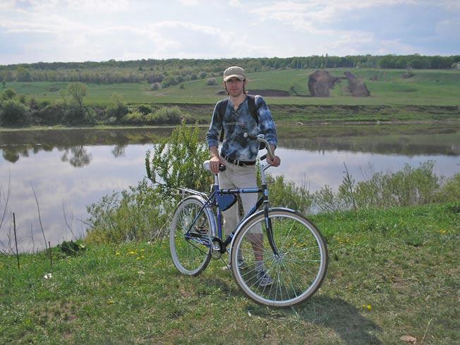 река дон и велосипед со мной