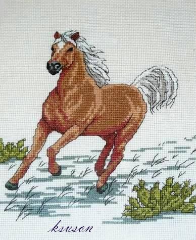 вышитые лошади - Самое