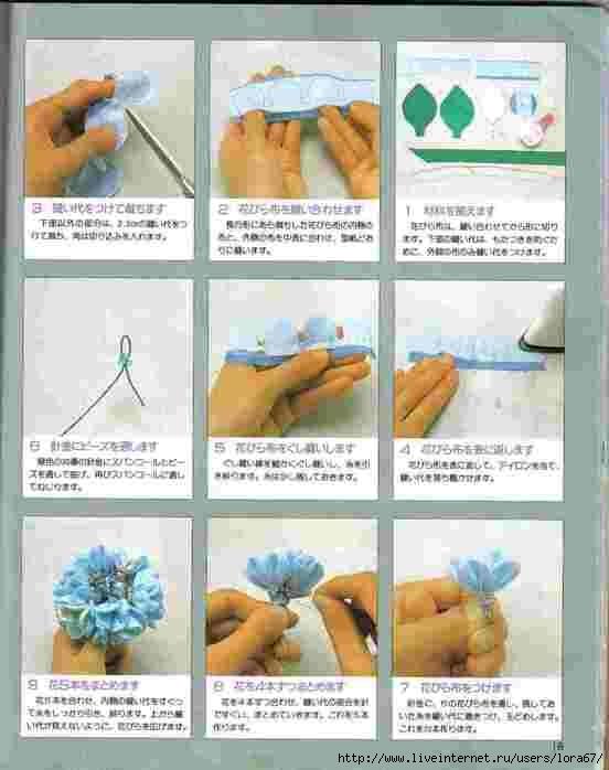 Как делать цветы их ткани.