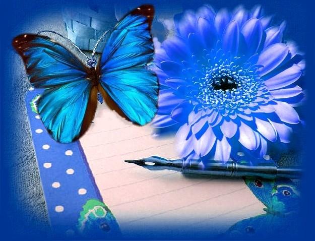 голубой цвет картинки: