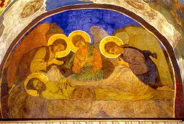 "M.Vrubel. Fresco ""Pieta (The Lamentation)"", Church of St. Cyril, Kiev"