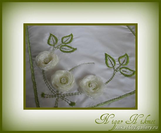 цветы из ткани, лент, как сделать цветы из лент