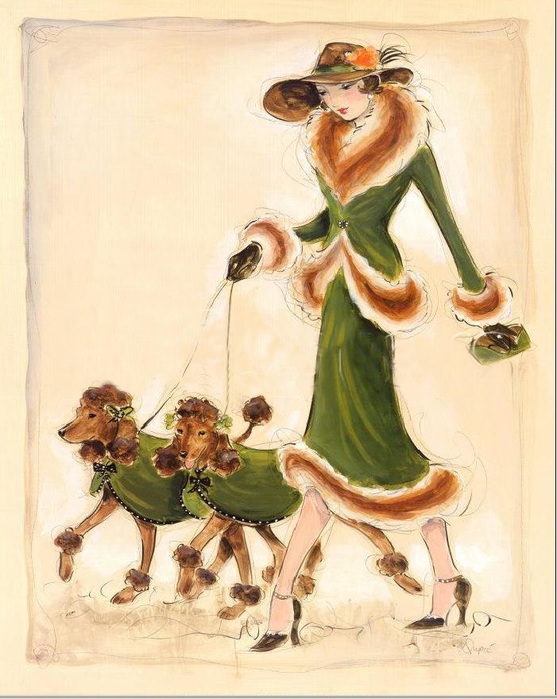 Дама с собакой вышивка