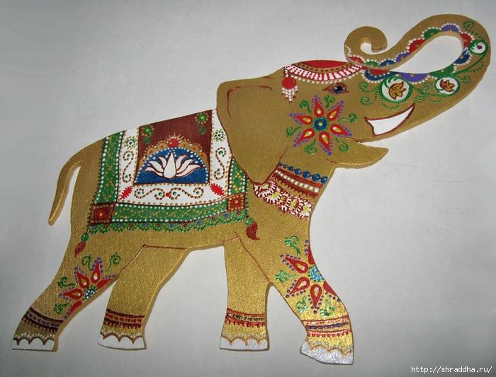 слон роспись акрилом