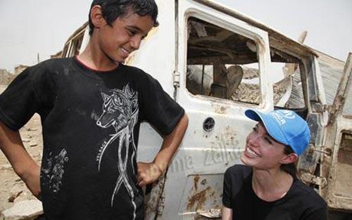 Анжелина Джоли в Ираке