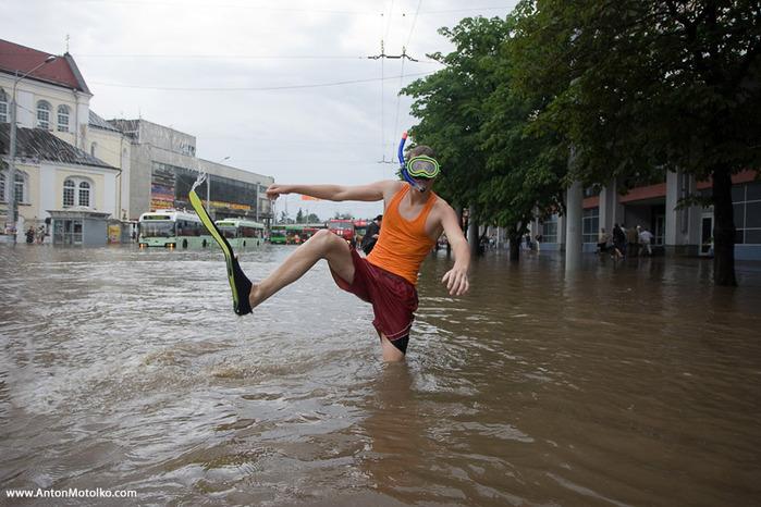 фото затопленного Минска