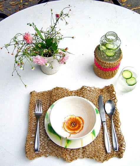 Вязаный декор стола