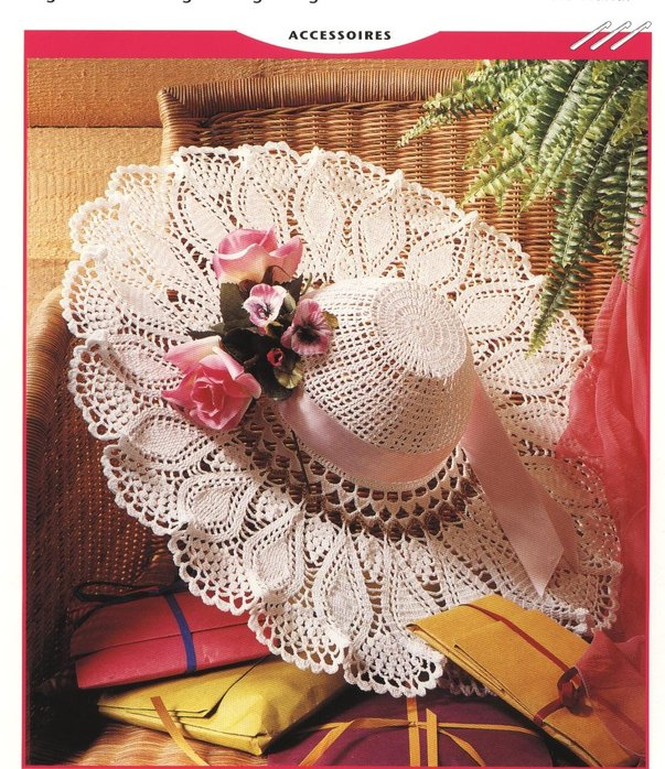 Вязание летней шляпы крючком.