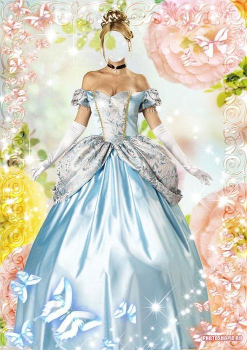 Шаблоны для фотошопа принцессы скачать