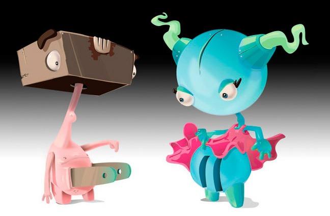 Мультяшные роботы