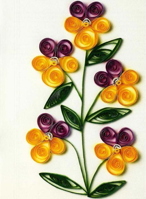 изготовление цветов из бумаги
