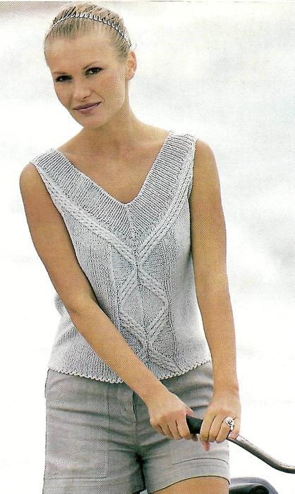 modele top tricot gratuit