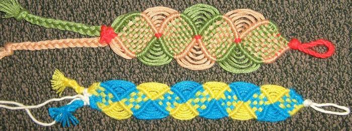 фенечки из ниток двойная