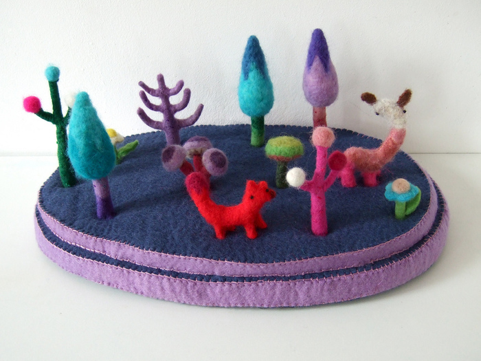 plush landscapes from felt