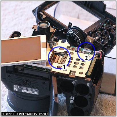 Fujifilm Finepix S700 disassembly and IR conversion — step 6