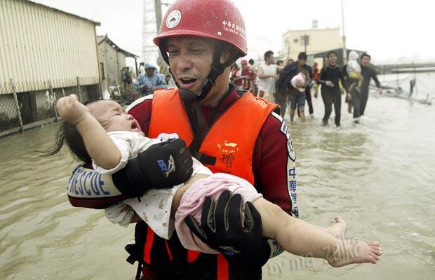 Тайфун Morakot, Тайвань