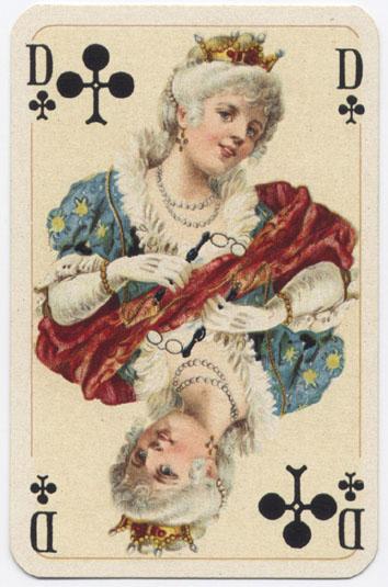 Игральные карты в стиле рококо