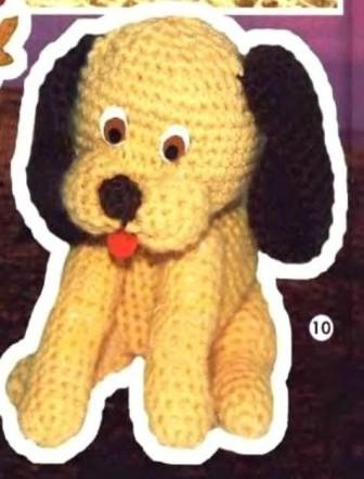 Собачка вязаная крючком.