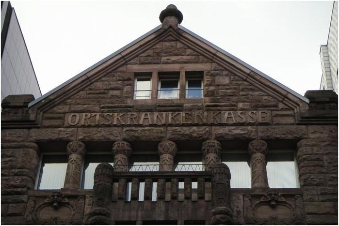 Дюссельдорф, Казерненштрассе. Фрагмент фасада.
