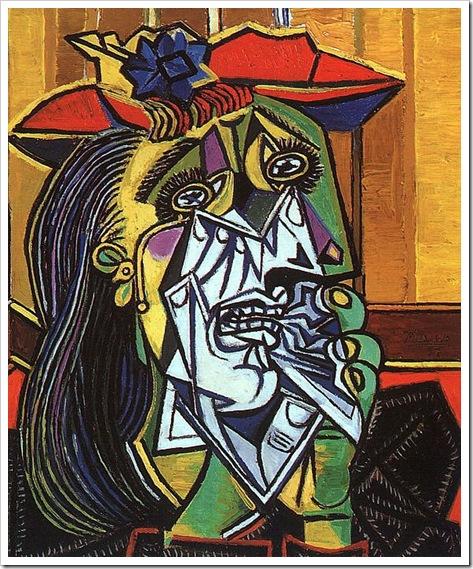 Пабло Пикассо - Плачущая женщина, 1937 год