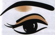 Макияж под форму и цвет глаз