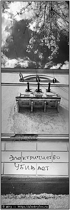 «Электричество убивает». Фильтр Heliopan КП 715  (IR, pano)