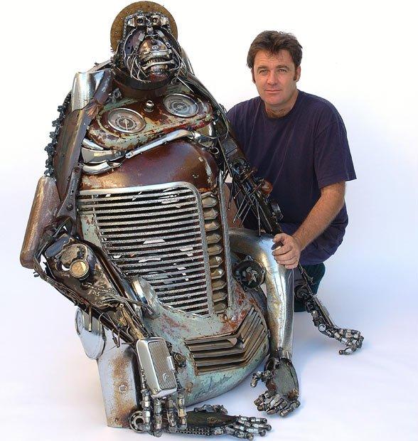 Скульптуры из автомобильного лома от Джеймса Корбетт (James Corbett)