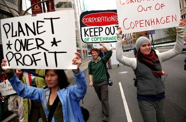 Протесты: глобальное потепление, климат, экология, конференция в Копенгагине.
