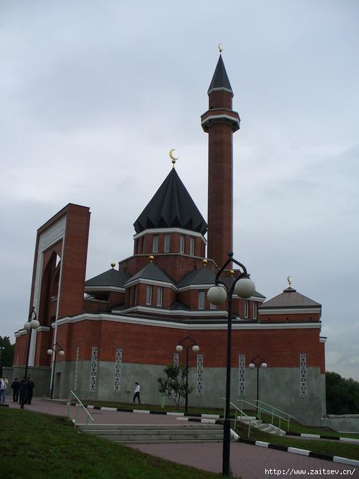 Мечеть и минарет в Москве на Минской улице Мечеть на Поклоннной горе Фото zaitsev.cn Дмитрий Зайцев