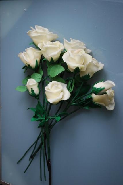 Розы лепка из теста