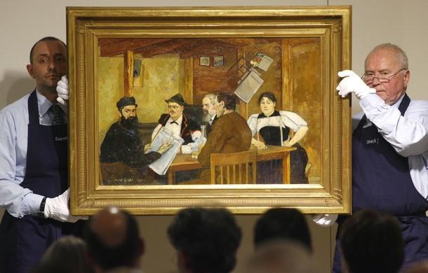 На аукционе Sotheby's в Цюрихе, Швейцария, 7 декабря 2009 года.