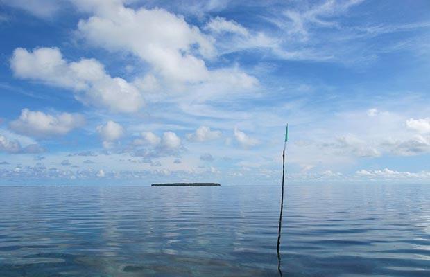 На Carteret островах в Тихом океане.