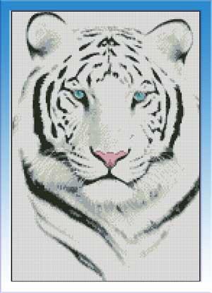 Вышейте белого тигра!