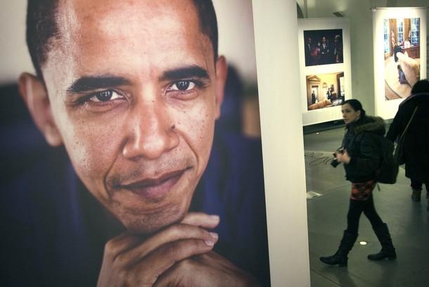 Барак Обама принял Нобелевскую премию мира в Осло, 10 декабря 2009 года.