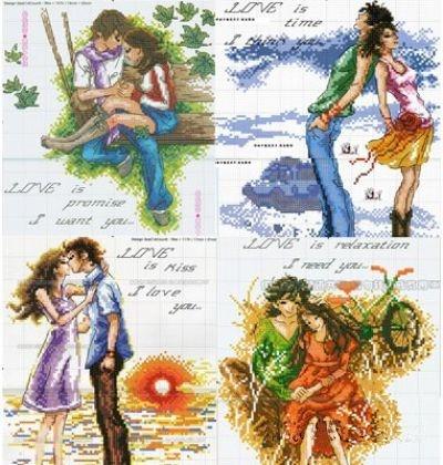 схема триптих влюбленные