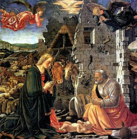 рождество, картины