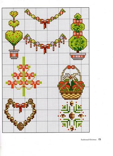 схемы новогодней вышивки