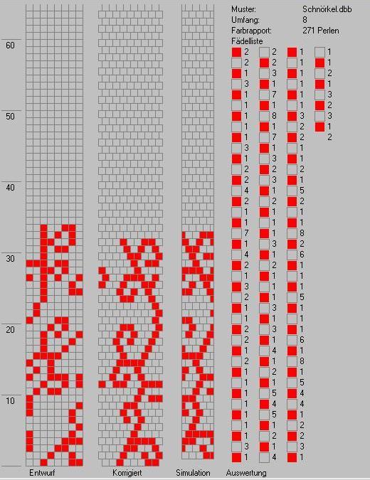 Схема вязанного жгута