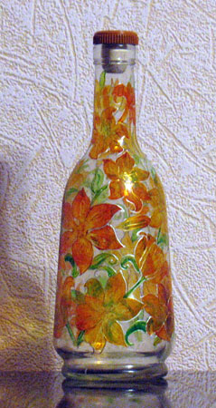 more ideas to decor glass bottles